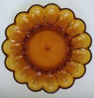Vintage Amber Indiana Glass Co. Hobnail Deviled Egg Plate.  BEAUTIFUL CONDITION