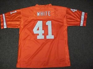 DEVIN WHITE Unsigned Custom Orange Sewn New Football Jersey Sizes S-3XL