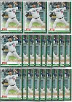 2019 Topps Holiday Walmart Hyun-Jin Ryu (21) Card Bulk Lot #HW90 Blue Jays