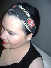 HANDMADE San Francisco 49ers *Women Headband Hair Accessory Hair Band W/ Elastic