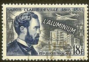"FRANCE TIMBRE STAMP YVERT N° 1015 "" DEVILLE INVENTEUR ALUMINIUM 18F"" OBLITERE TB"