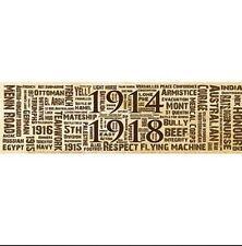The Great War Word Art Sticker 1914-1918 - Sepia