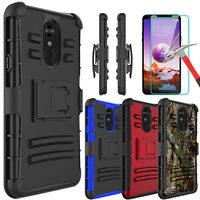 For LG Stylo 5/Stylo 4/4+/4 Plus Case With Kickstand Belt Clip+Screen Protector