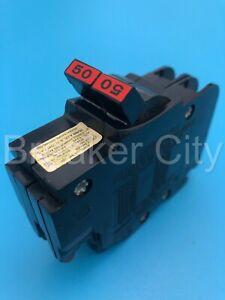 Federal Pacific 50 Amp 2 Pole Type NC NC250 Stab-lok (Thin) FPE Circuit Breaker