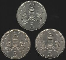 More details for 1968-1970 elizabeth ii five new pence coins   british coins   pennies2pounds