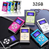 Mini Clip USB2.0 MP3 Musik Player LCD Screen Support 8/16/32GB Micro SD TF Card