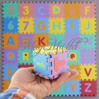 Interlocking EVA Foam Alphabet Letter Numbers Soft Play Mat Educational Puzzle