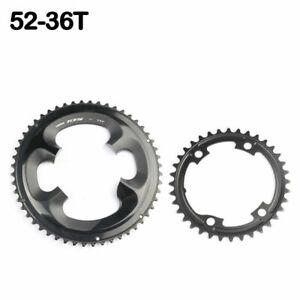 Shimano 105 R7000 Chainring Set 52x36 11 Speed Road Bike Black