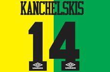 Kanchelskis #14 Man United 1993-1994 Newton Heath Football Nameset for shirt