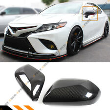For 18-2020 Toyota Camry Le Se Xle Xse Real Carbon Fiber Side Mirror Cover Cap