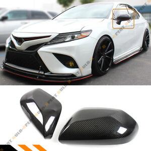 FOR 18-2021 TOYOTA CAMRY LE SE XLE XSE REAL CARBON FIBER SIDE MIRROR COVER CAP