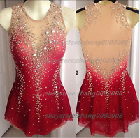 Ice skating dress.Red Competition Figure Skating /Baton Twirling Costume