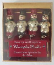 CHRISTOPHER RADKO Snowmen Skaters Spreaders Set of 4 in Original Box
