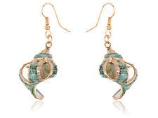 Rose Golden Stylish Sleek Realistic Seashell Vintage Inspired Element Earrings