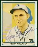 Original Autograph PSA/DNA of Sam Chapman of the Philadelphia Athletics, 1941PB