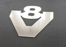 1 Stück BIG V8 SCANIA LKW Edelstahl Emblem Chrom selbstklebend Schild Zubehör