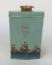 vintage COTY DE PARIS TALC POWDER TIN unopened