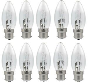 10x Osram Classic 64541 B 20w (=25w) Halogen B22d BC Bayonet Candle Light Bulb