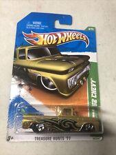 2011 Hot Wheels Treasure Hunt Custom '62 Chevy Pickup Truck with protector