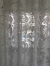 Stores Gardine Stoff Vorhang Ausbrenner Transparent hell grau