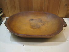 Large Antique Primitive Wooden Bread Biscuit Dough Bowl Trencher  B2005