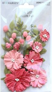49 and Market Royal Spray Paper Flowers 15/Pkg-Passion Pink