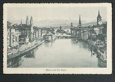 SWITZERLAND-SCHWEIZ 198-ZÜRICH -und die Alpen.