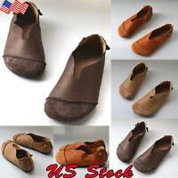 Women's Ladies Slip On Indoor Outdoor Shoe Slipper Fur Loafer Walking Work Shoes