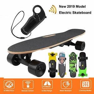Electric Skateboard Longboard Kit Remote Control Wireless Scooter With Hub Motor