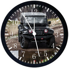 Jeep Wrangler Off Road Black Frame Wall Clock Nice For Decor or Gifts E282
