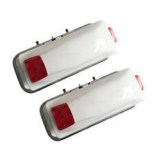 Motorcycle Hard Saddlebag Trunk Bag Luggage New Tail Light Chrome Bracket WHT M