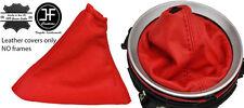 Manual de Cuero Real Rojo Gear & Polaina de freno de mano se adapta Nissan 350Z 33Z 02-09