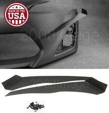V2 Pair Black ABS Front Bumper Lip Canard Splitter Diffuser For 13-16 Scion FRS