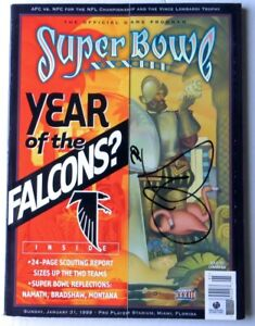Terrell Davis Signed Autograph Superbowl XXXIII Program Denver Broncos GV907566