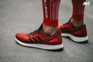 adidas Pureboost DPR Running Shoes Men's  Red Black MRSP $150 # BB6294