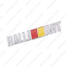 3D Chrome RALLIART Body Emblem Badge Rear Metal Sticker For Mitsubishi EVO