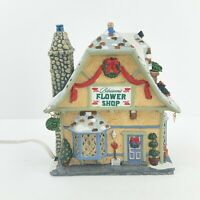 Lemax VillageBuildings Blossom's Flower ShopLighted Christmas House NO BOX