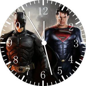 "Batman Superman wall Clock 10"" will be nice Gift and Room wall Decor E46"
