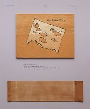 """Terry Weldon """"Wood Swiss Cheese Slice"""", 1974 Kunstobjekt, handsigniert"""