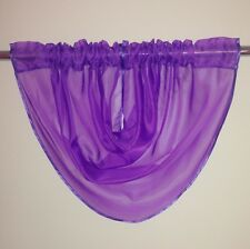BEAUTIFUL VOILE CURTAIN SWAGS - NET VALANCE PELMET