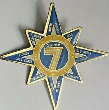 Telephone Pioneers Of America Super 7 Multi Chapter Star Pin Vintage Enameled