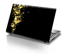 Golden Butterfly Laptop Decal - Laptop Skin- Size-14.1 to 15.6 inches