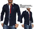 Camicia Elegante Moda Uomo a Manica Lunga da Cerimonia Avvitata in Cotone NUOVA
