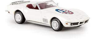 """Corvette C3 Cabriolet """" Paix """", H0 Modèle Auto 1:87, Brekina 19982, Td"""