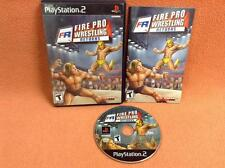 Fire Pro Wrestling Returns Playstation 2 PS2 Game FREE SHIP Complete!