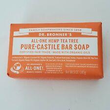 Dr. Bronner's Magic Soaps All-One Hemp Tea-Tree Pure-Castile Soap Bar 5oz