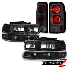 2000-2006 Chevy Tahoe 4.8L Black Headlight+Bumper+Altezza Dark Smoke Tail Lights