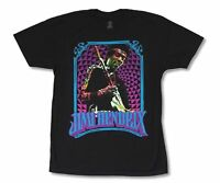 Jimi Hendrix Teal Logo Frame Black T Shirt New Official Adult