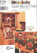 Pattern Simplicity Sewing Quilt Pillow Shams Wall Hanging Home Decor Holiday