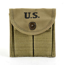 WW2 .30 M1 CARBINE  BUTTSTOCK TYPE POUCH Lt. OD Green Marked JT&L 1943